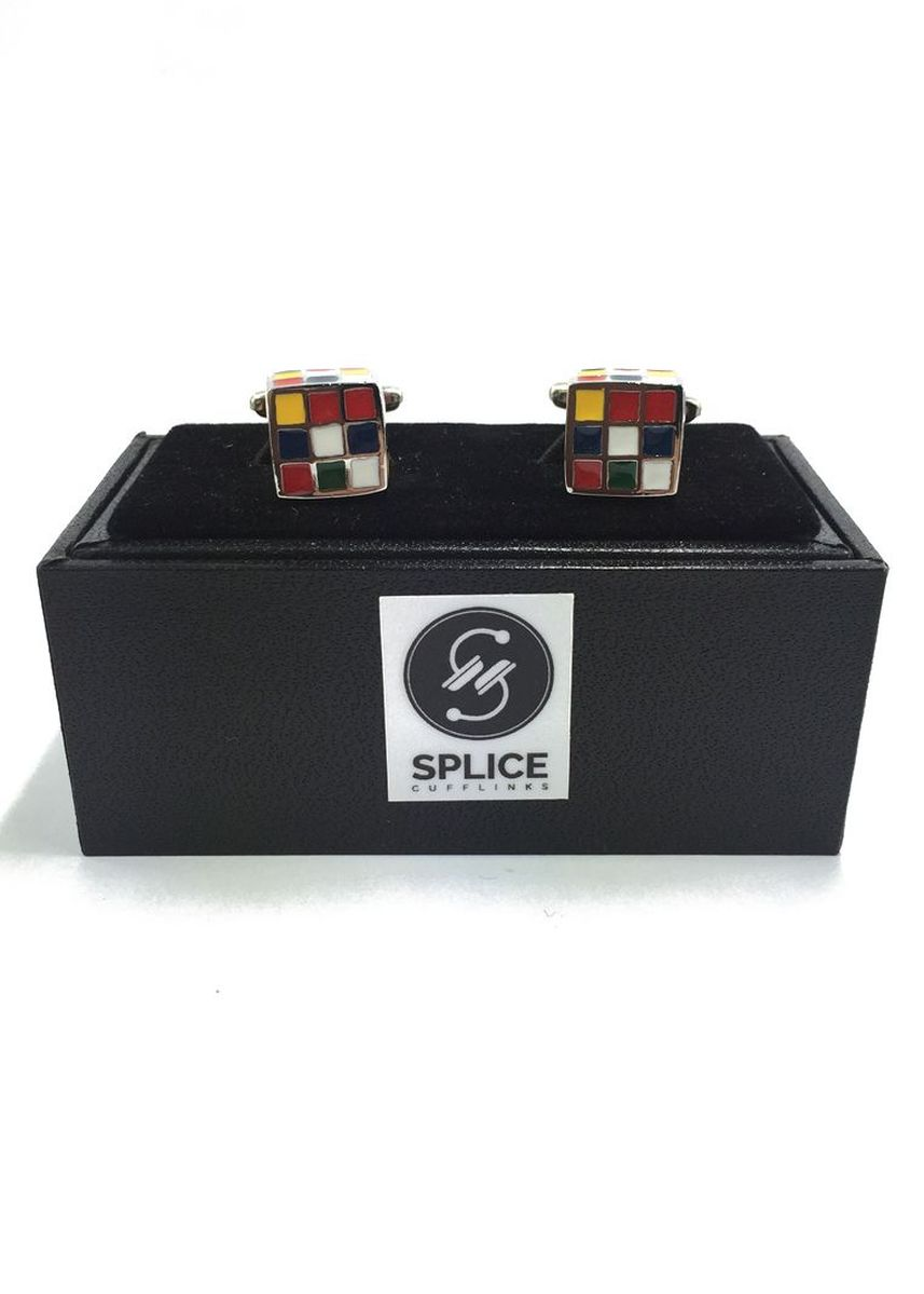 Multi color Cufflinks . Rubik's Cube Cufflinks -