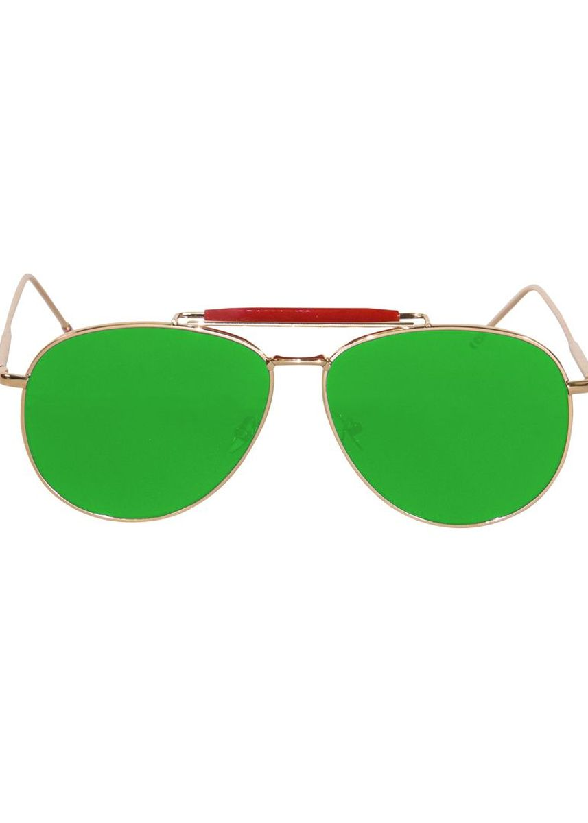 Green color Sunglasses . Eighty Eight Sunglasses แว่นกันแดด รุ่น EER20 - Green Iridium -