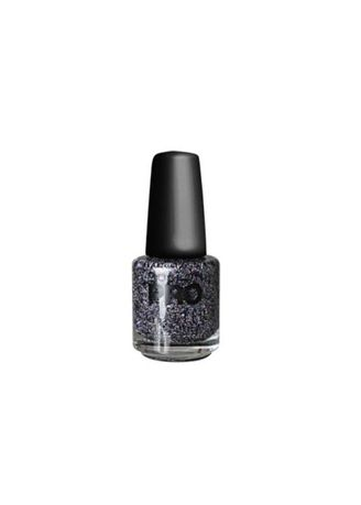 Grey color Nails . MOLLON GLITTER 142 -
