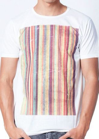 White color T-Shirts and Polos . Men's T Shirt With Round Neck -