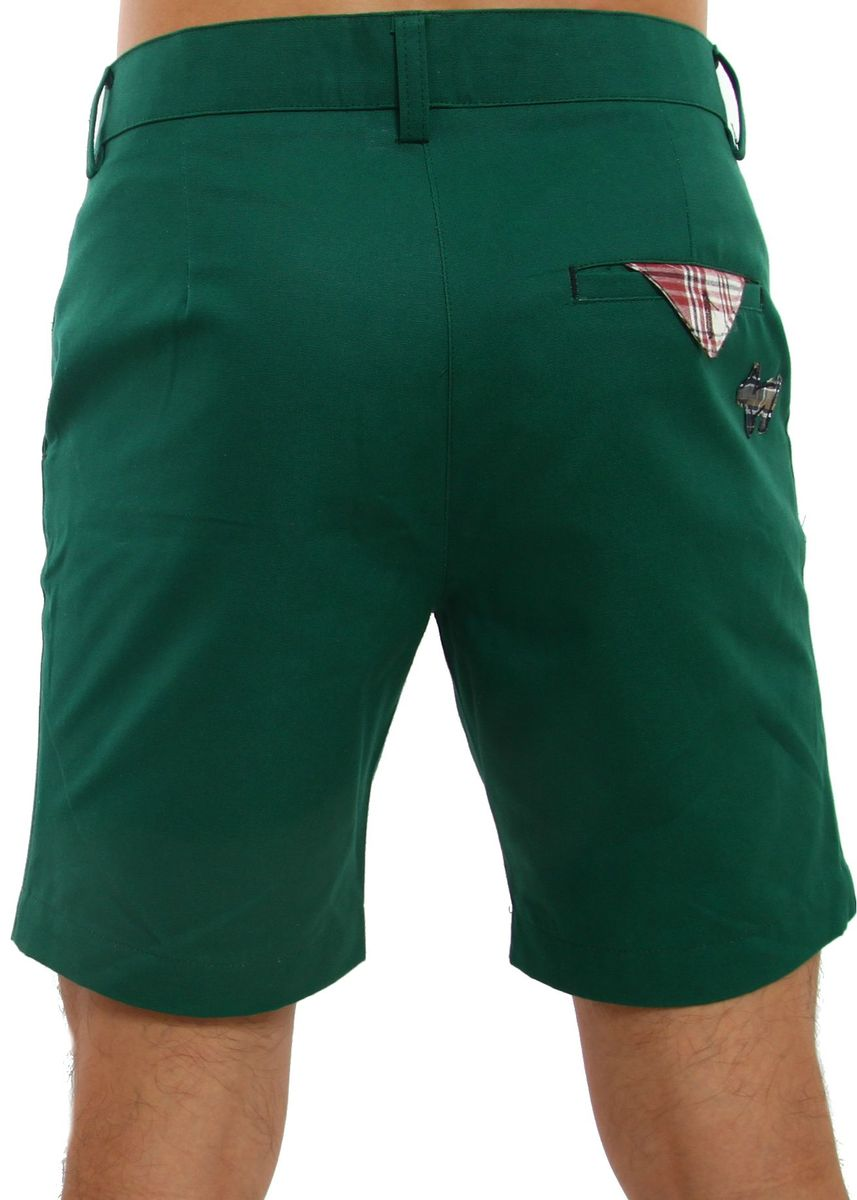 Green color Shorts & 3/4ths . Sublime Shorts with Puppy Emblem - British Green -