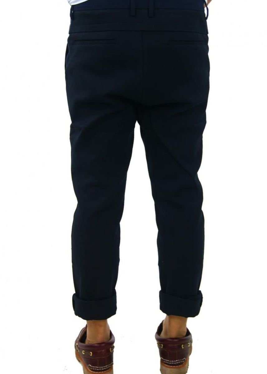 Blue color Casual Trousers and Chinos . Richard Slim Fit Pants - Navy Blue -