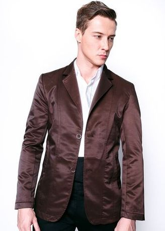 Brown color Blazers . เสื้อสูทลำลอง Plain Casual Suit (CHOCOLATE BROWN) -