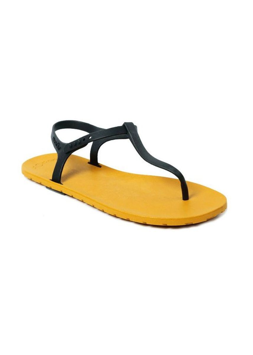 Black color Sandals and Slippers . Slingback Mustard x Black -