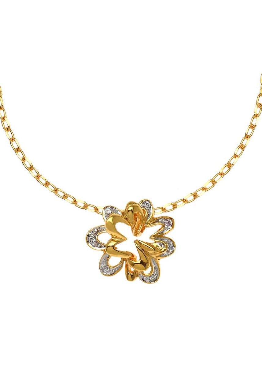 Yellow color  . Jewelry Buffet Pendant Design Vintage With Cz Platinum Plate. (RP03197X000) -