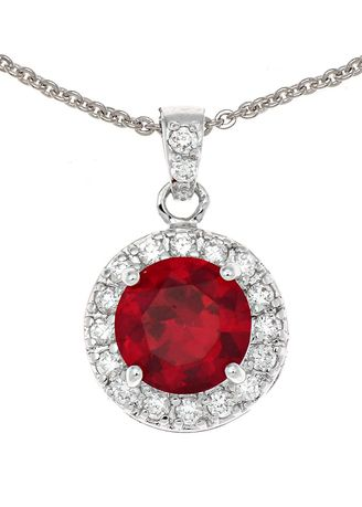 แดง color  . Jewelry Buffet Pendant Design Vintage With Ruby Platinum Plate. -