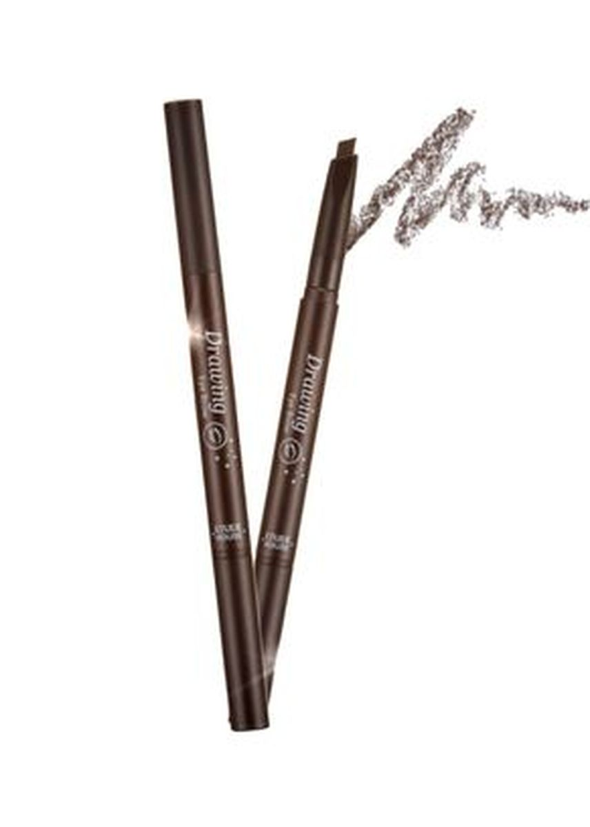 No Color color Eyes . Etude House ดินสอเขียนคิ้ว Drawing Eye Brow #01 Dark Brown -