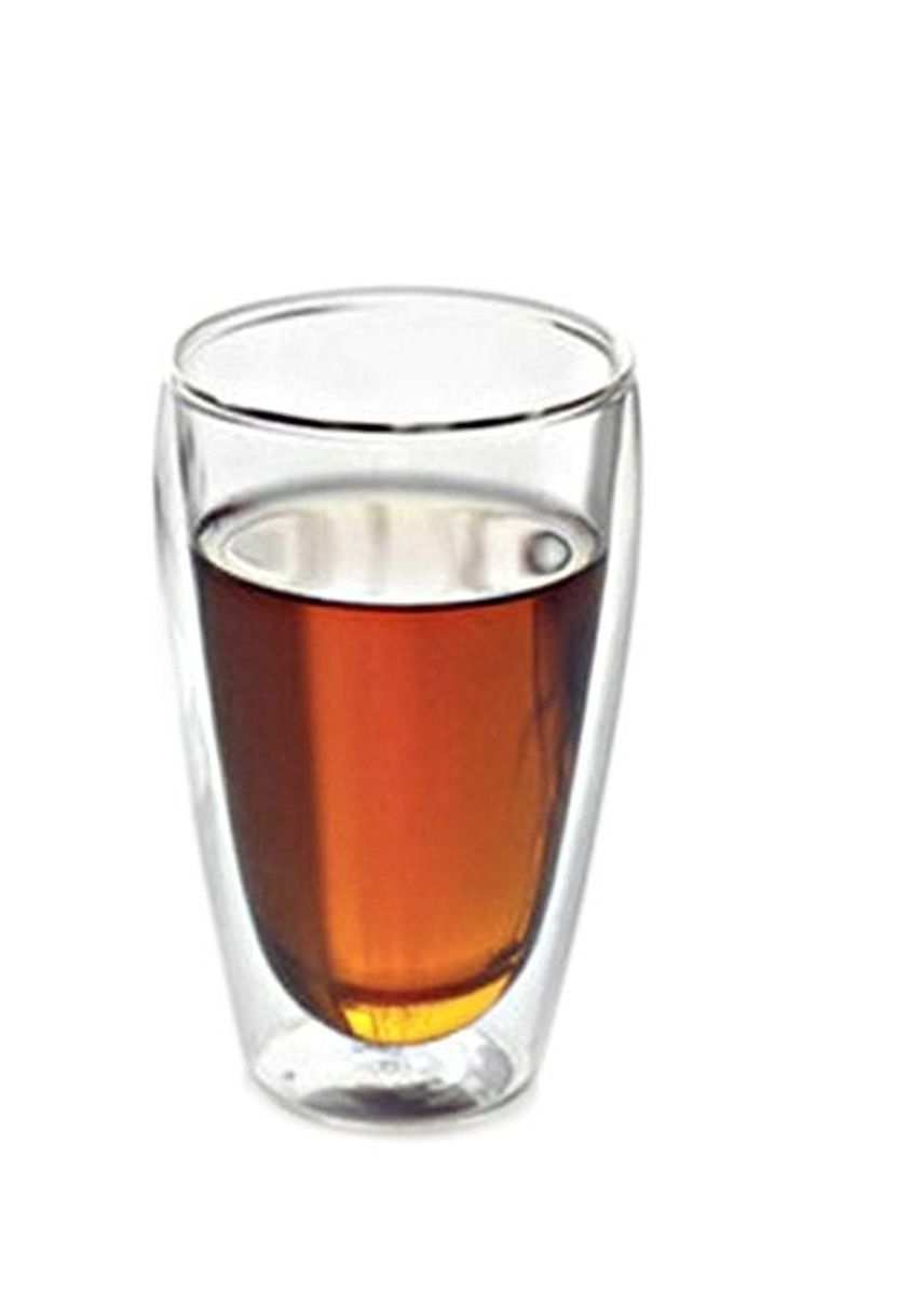 No Color color Barware . Shoppy Handmade Double Walled Glass with Lid -