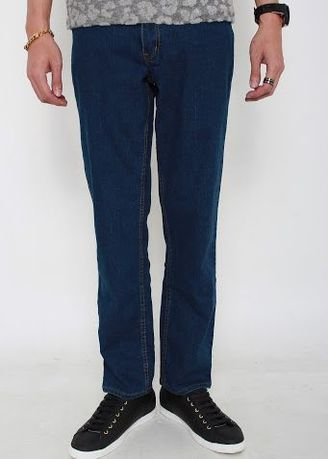 Blue color Jeans . Slim Straight Stretchable Jeans MS1-1 -