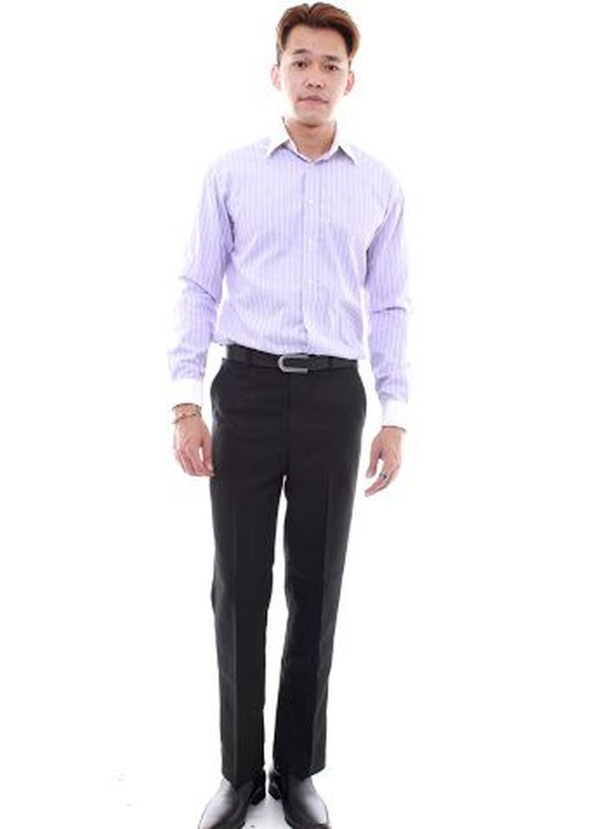 Black color Formal Trousers . Prolando Plain Business Pants -