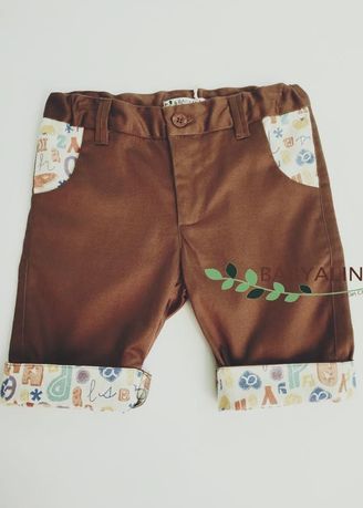 Brown color Bottoms . cropped pant -