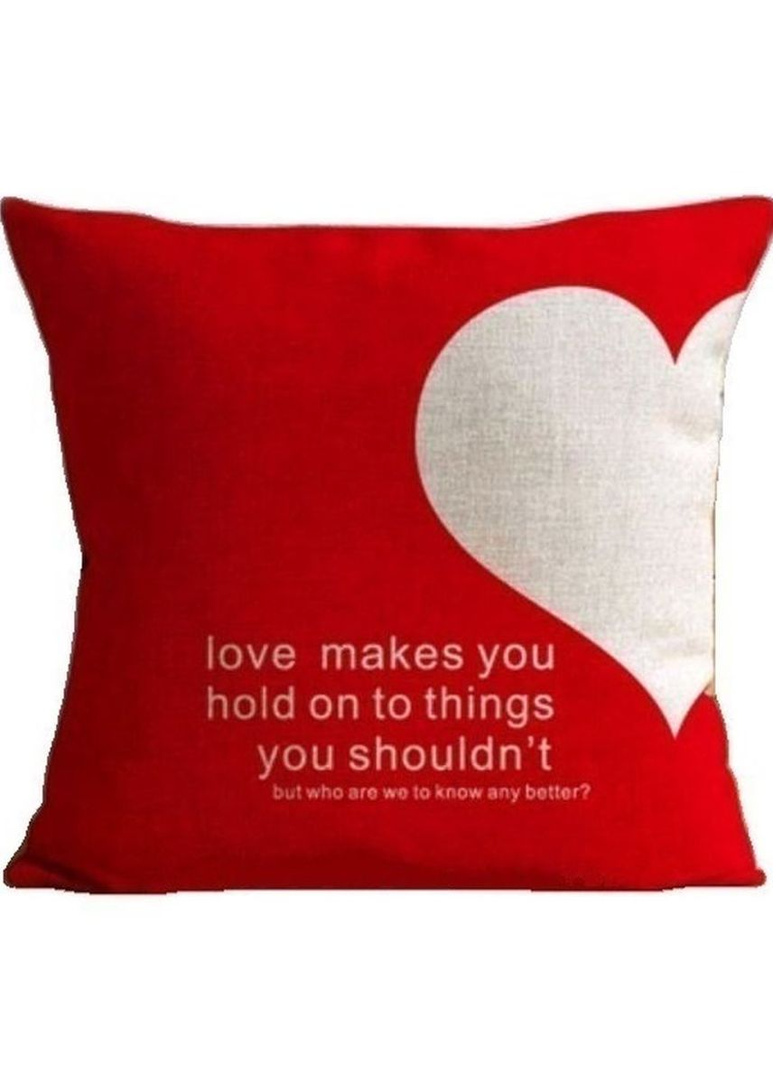 """Red color Home Decor . Cute Cushion Cover """"LOVE QUOTE"""" -"""