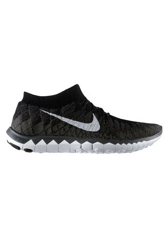 Black color Sports Shoes . Nike Free Flyknit 3.0 -