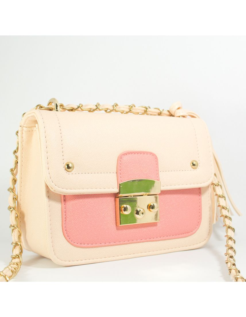 Pink color Sling Bags . In the box body Soft Pink -