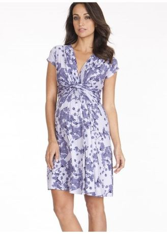 4499307841e Bump Maternity – Seraphine SS Knot Front Maternity   Nursing Dress  (Lavender Blossom)