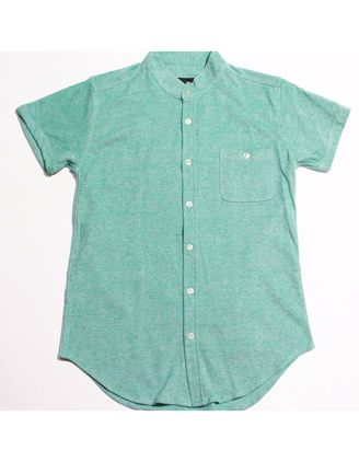 Green color Casual Shirts . Colorful Chinese Collar Shirts -