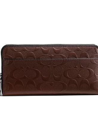 e095c6ef358a COACH F75372 ACCORDION WALLET IN SIGNATURE CROSSGRAIN LEATHER (MAH)   MCF75372MAH