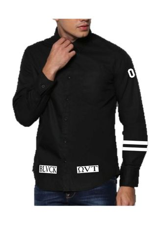 Black color Casual Shirts . Blackout Formal Blvck -