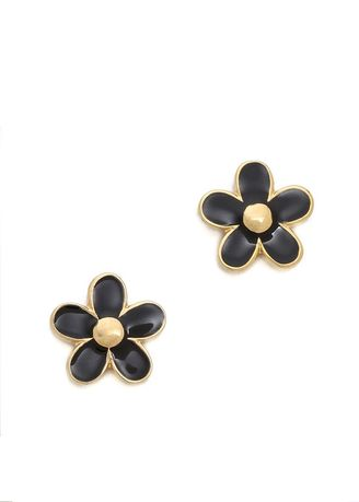 Gold color Other . Marc By Marc Jacobs Gold Plated Black Daisy Stud Earrings -