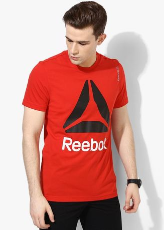Red color T-Shirts and Polos . Reebok Red Round Neck T Shirt -