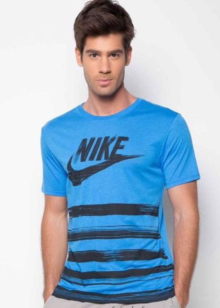 Blue color T-Shirts and Polos . Nike Flow Motion T Shirt -