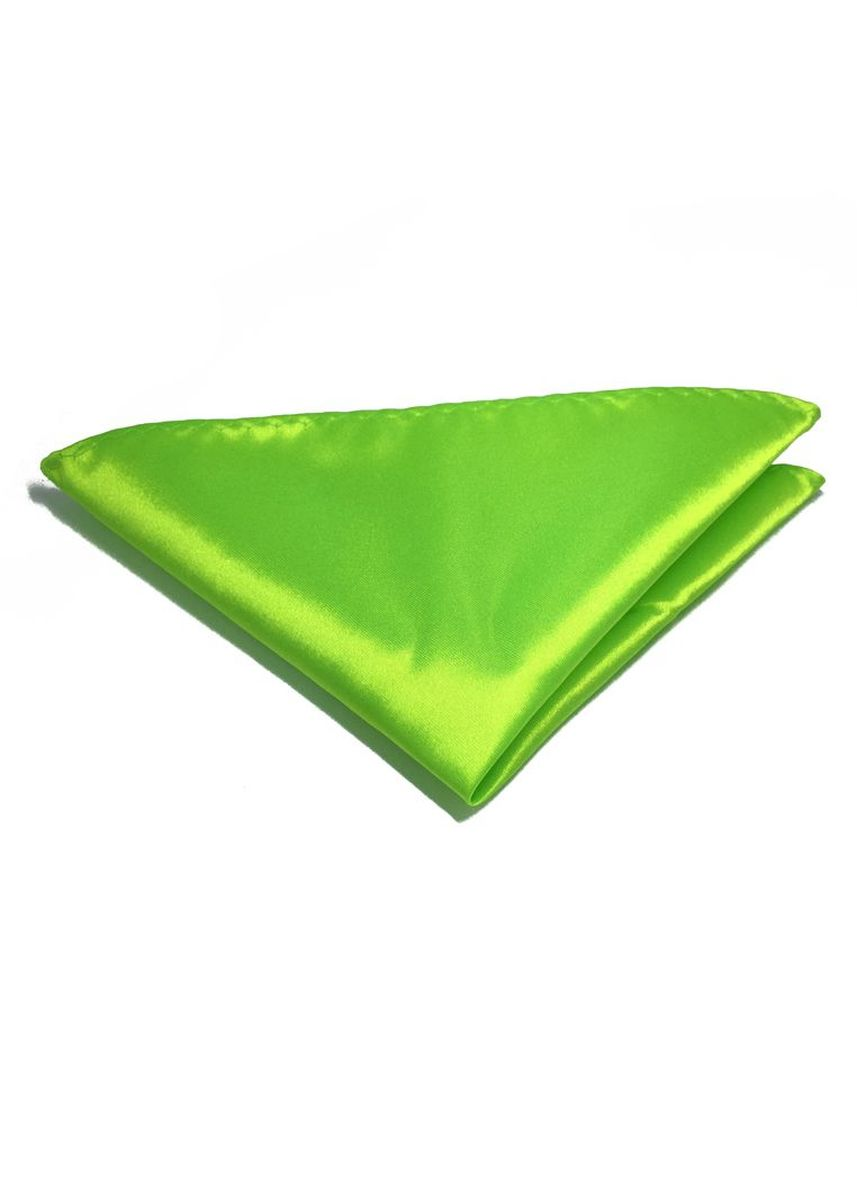 Green color Pocket Squares . Lustrous Series Lime Green Polyester Pocket Square -