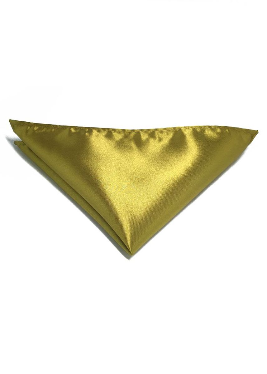Gold color Pocket Squares . Lustrous Series Golden Yellow Polyester Pocket Square -