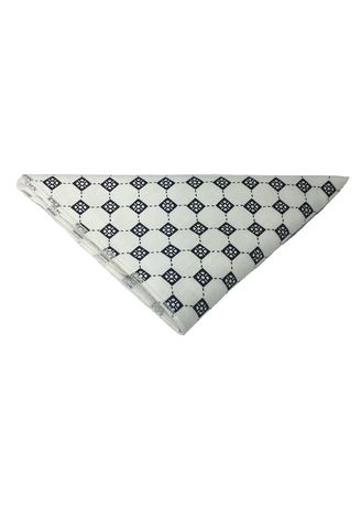 White color Pocket Squares . Posy Series Black Checked Pattern White Cotton Pocket Square -