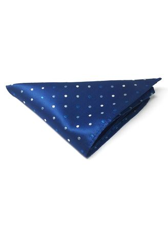 Blue color Pocket Squares . Dollop Series Blue and White Spots Electric Blue Polyester Pocket Square -
