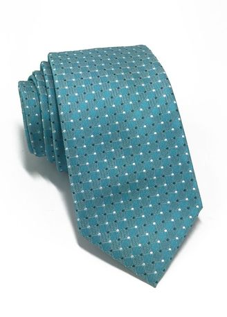Blue color Ties . Atom Series Turquoise Polyester Tie -