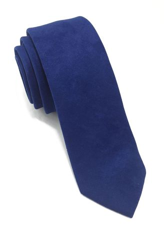 Blue color Ties . Suede Series Blue Suede Tie -