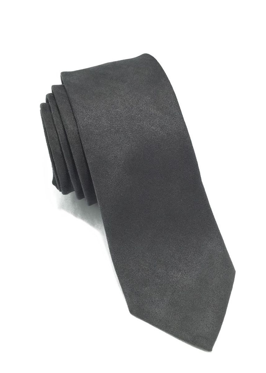 Grey color Ties . Suede Series Grey Suede Tie -