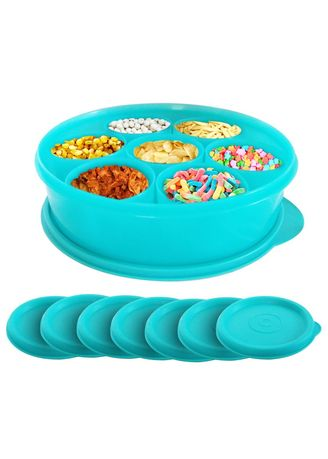 Blue color Kitchen . Adelaides Calista Oedo Container Bulat - Circle Container - Set 8 buah -
