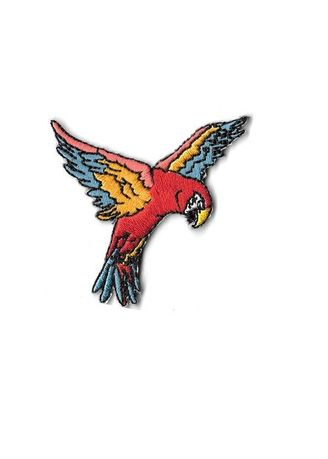 Multi color Other . Perry The Parrot Iron On Patch -