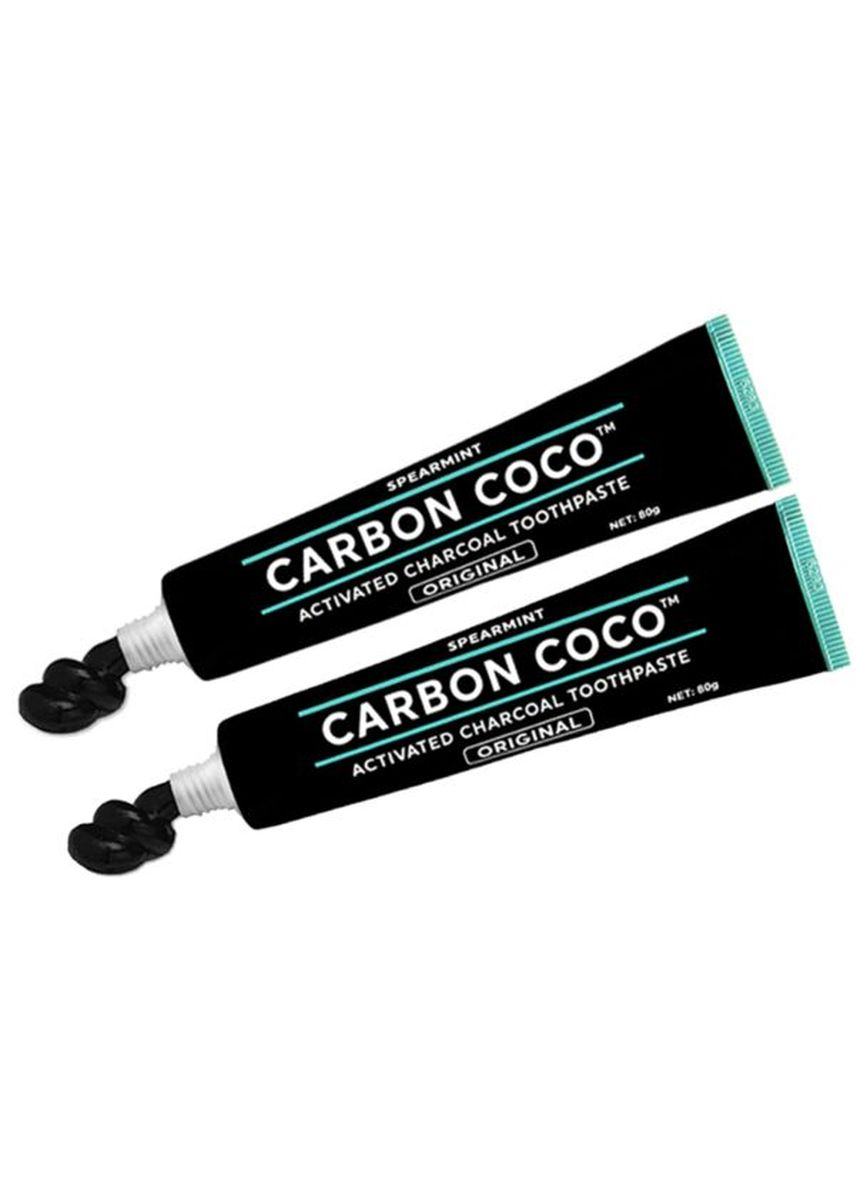 No Color color Personal Care . Carbon Coco Activated Charcoal Toothpaste Fluoride Free Duo Pack -