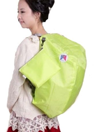 Green color Backpacks . Iconic Three Way Korean Foldable Backpack with Carrying Pouch -