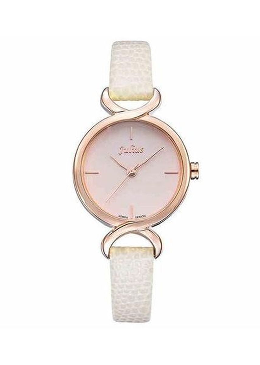 White color Analog . JS CHARME Leather Women Watch -