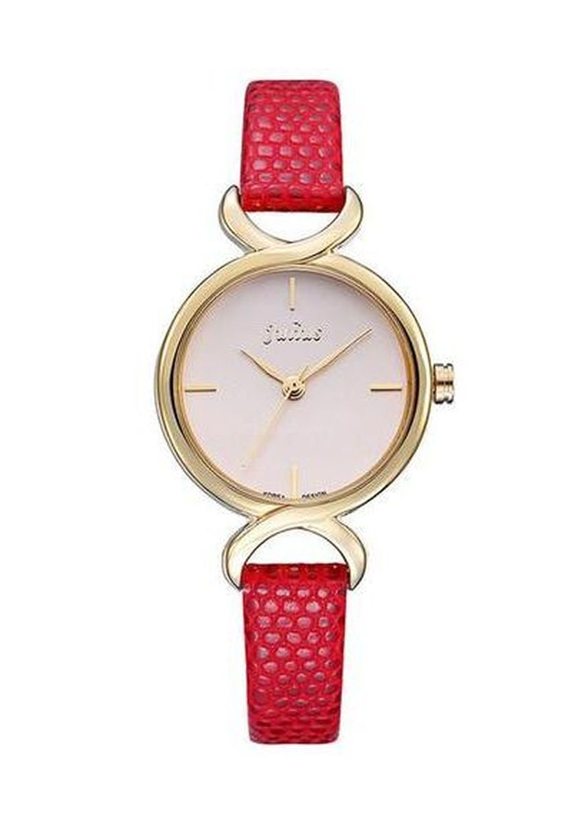 Red color Analog . JS CHARME Leather Women Watch -