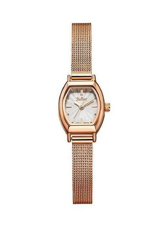 Pink color Analog . JS FULGENTI STAINLESS STEEL WOMEN WATCH -