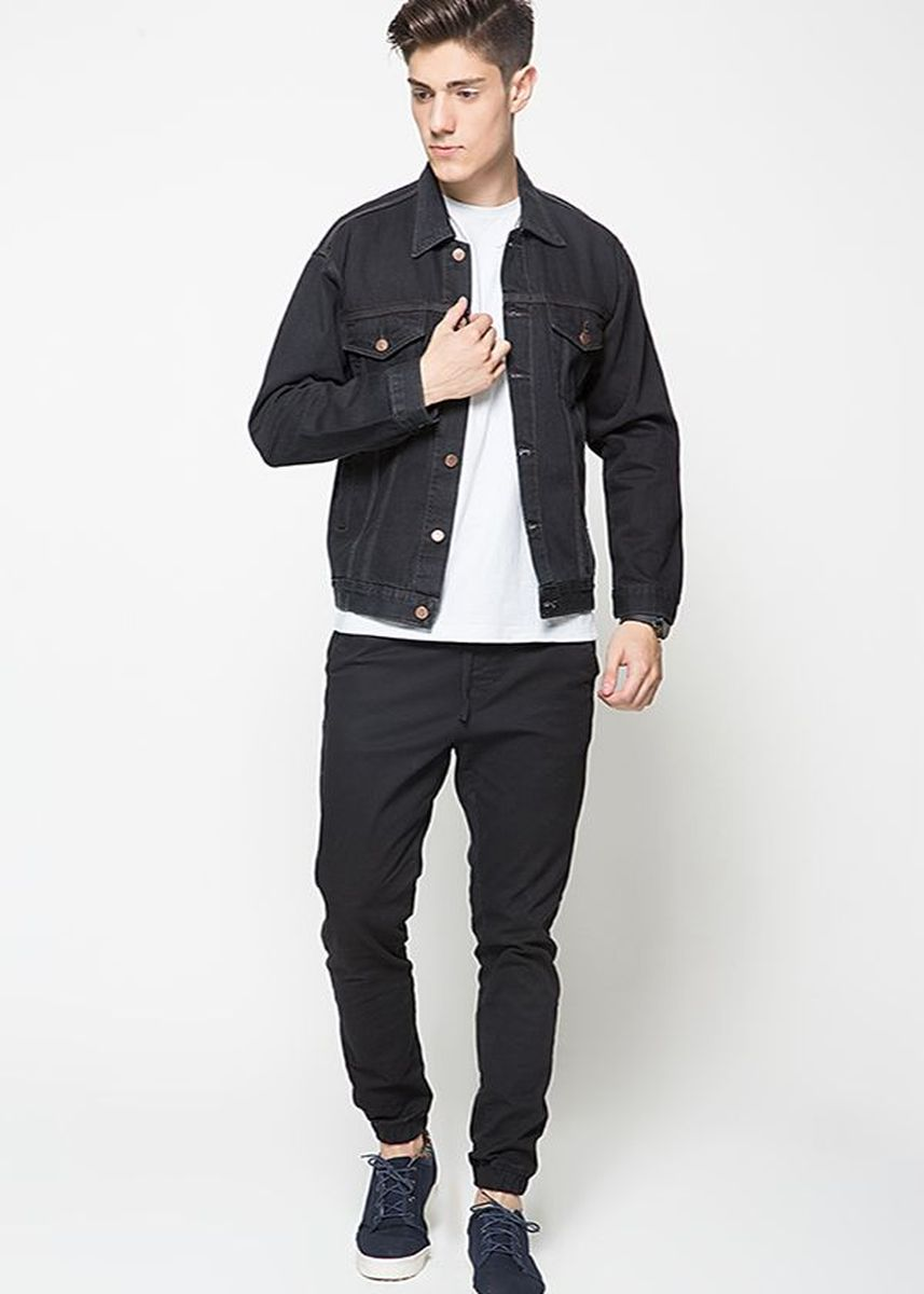 Black color Jeans . 2Nd Red Jacket Jeans Hitam Raw-191112 -
