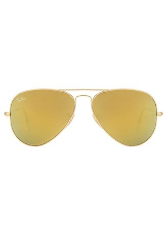 Yellow color Sunglasses . Ray Bans 3025 112/93 Golden Yellow Reflector Mirror Aviator Sunglasses -