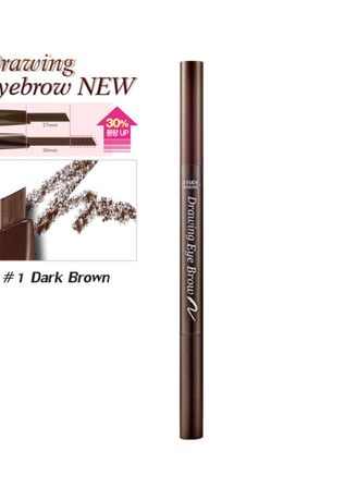 No Color color Eyes . Etude House Drawing Eye Brow (NEW!) #No.1 Dark Brown น้ำตาลอมดำ -