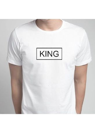 White color T-Shirts and Polos . KING Box Tee -