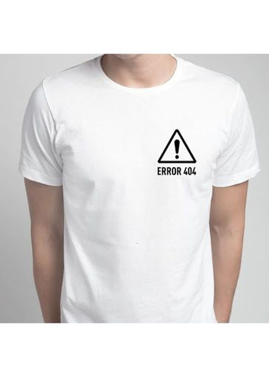 White color T-Shirts and Polos . Error 404 Tee -