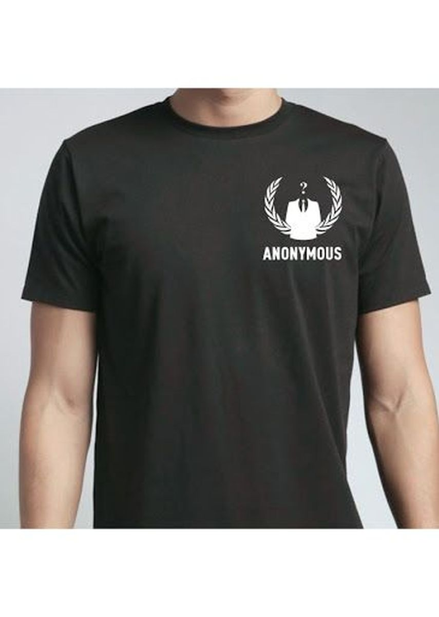 Black color T-Shirts and Polos . Anonymous Tee -