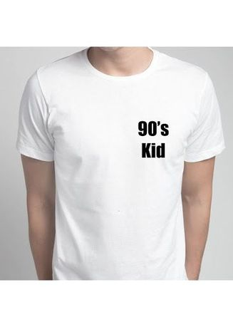 White color T-Shirts and Polos . 90's Kid Tee -