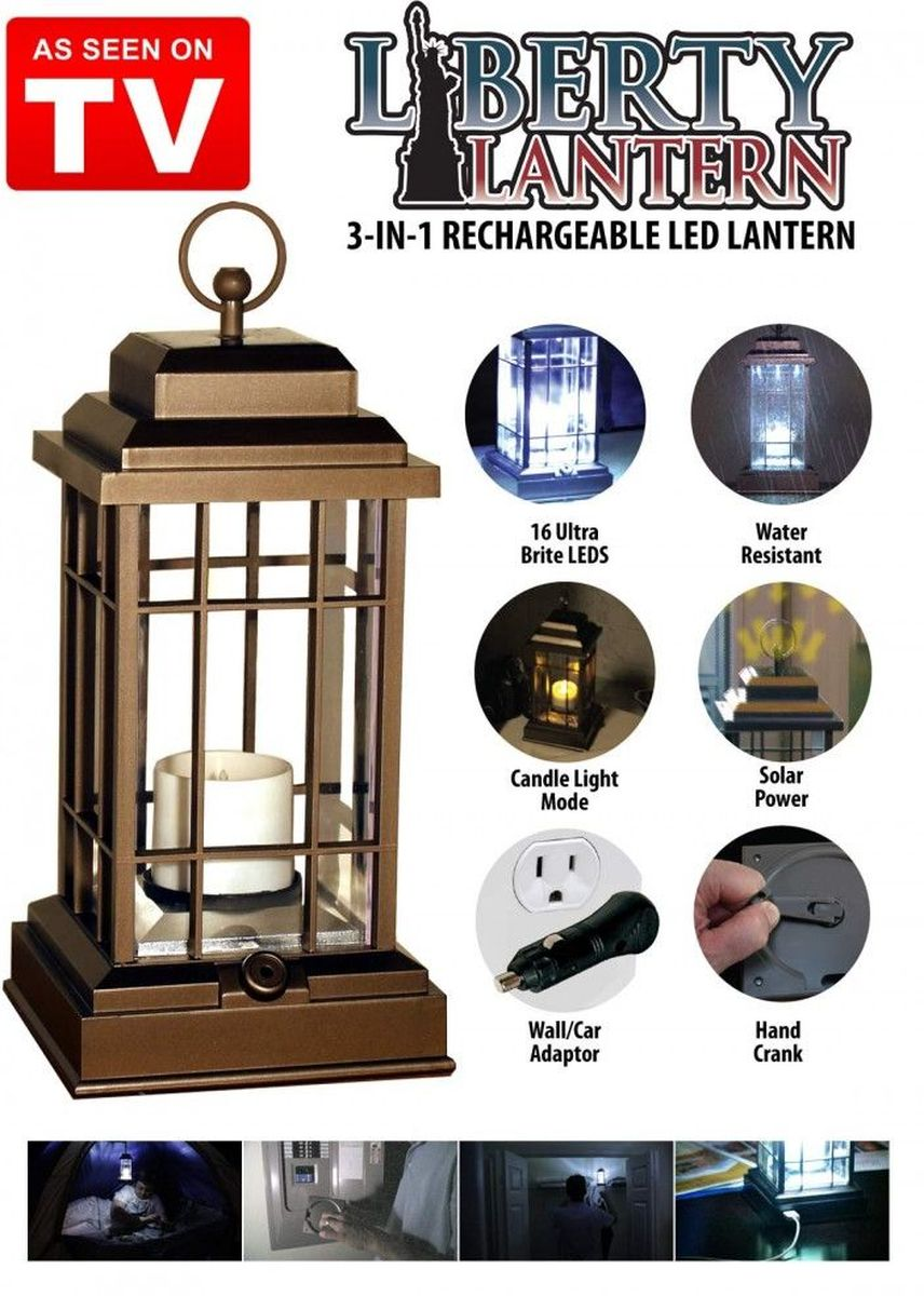 Brown color Home Decor . Liberty Lantern LED 3 in 1 -