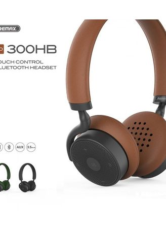 Multi color  . Original REMAX Bluetooth Headphone with Touch Control RB-300HB -