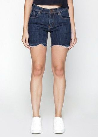 Blue color Jeans . 2Nd Red Cropped Denim Shorts 261619 -