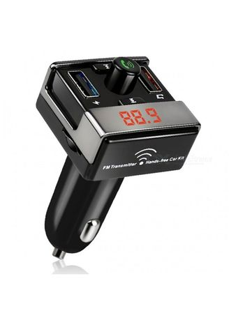 Black color  . A7 Bluetooth Hands-free Car Kit MP3 Player FM Transmitter Dual USB Car Charger -